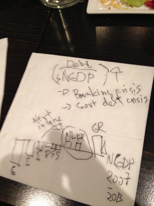 Euro crisis on a napkin